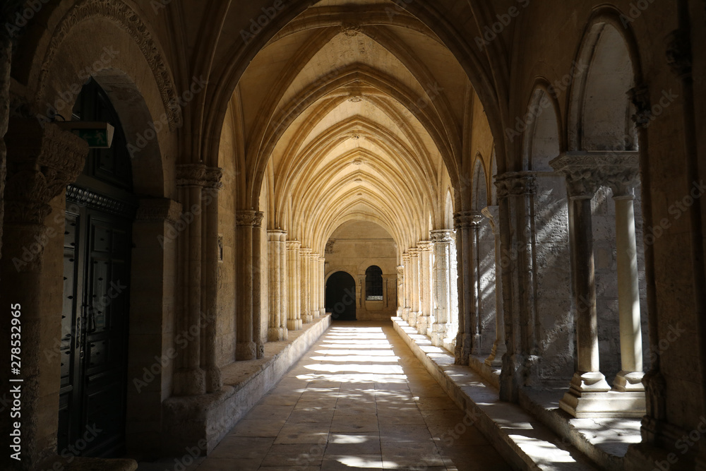 Fototapety, obrazy: Romanesque Cloisters Church of Saint Trophime Cathedral in Arles. Provence,  France
