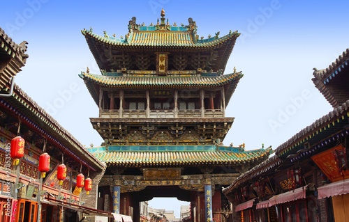 Photo  architecture de la ville de Pingyao