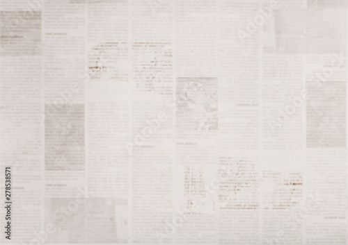 Vintage old grunge newspaper paper texture background