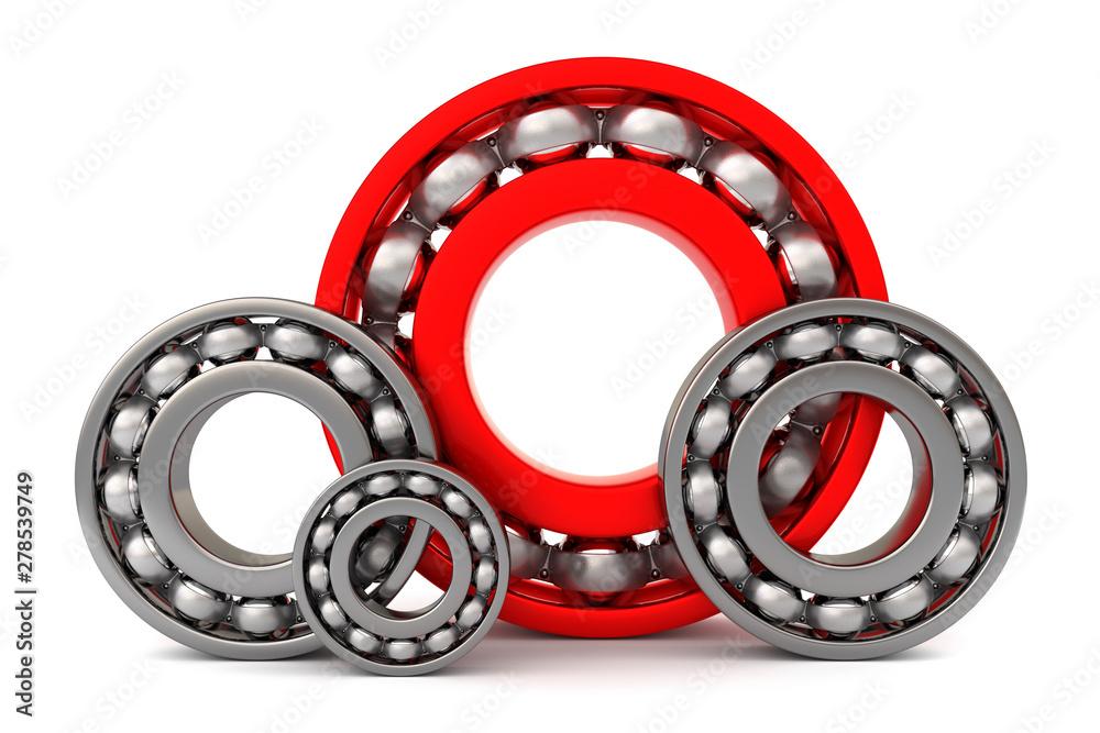 Fototapety, obrazy: Four ball bearings.