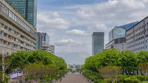 Fotografie, Obraz  La Defense Without Cars and Clouds. Time Lapse