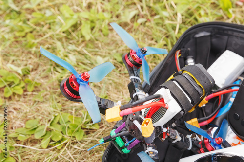 Poster Bleu nuit Fpv high-speed drone copter