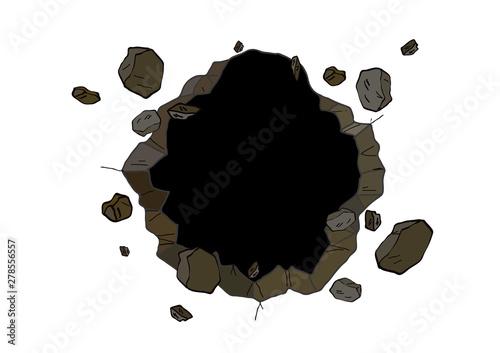 Fotografia Hole in the wall. Comics style. vector illustration