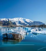 Icebergs In Jokulsarlon Glacie...