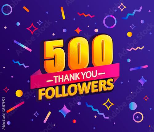 Papel de parede  Thank you 500 followers,thanks banner