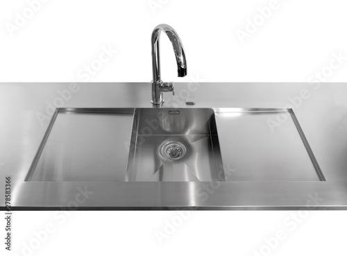 Lavello cucina in acciaio - Buy this stock photo and explore ...