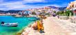 Leinwanddruck Bild - Most beautiful traditional villages of Greece - Kokkari in Samos island