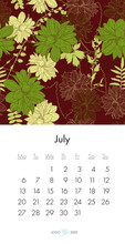 Floral Calendar July 2020 With...