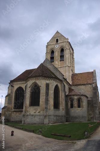 église d'Auvers sur Oise Canvas Print
