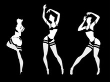 Set Of Sexy Women Silhouettes ...