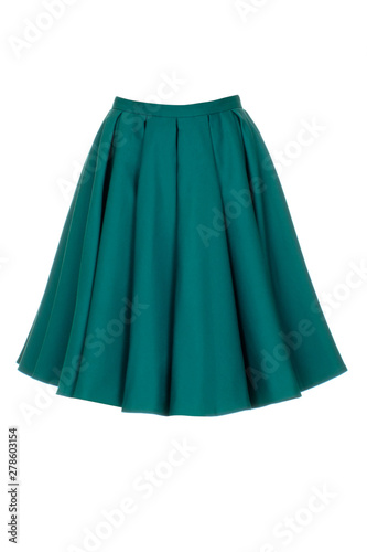 Photo Green skirt isolated on white