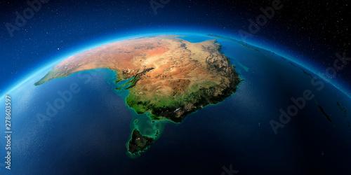 Photo Highly detailed Earth. Australia and Tasmania