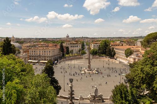 View From The Terrazza Del Pincio Of The City Piazza Del