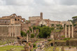 Roman forum, the ruins of ancient Rome. Rome, Italy.