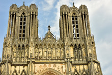 Cathedral In The City Of Reims...