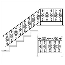 Wrought Iron Stair Railing Des...