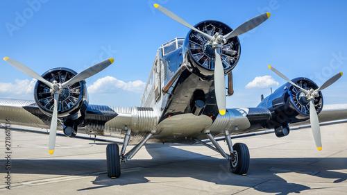 historical aircraft on an a...