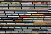 Aerial View Of Rail Cars Waiti...