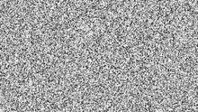 White Noise Texture. Static Interference Grunge Vector Background. TV Screen No Signal.