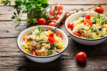 Cold Summer Salad With Rice