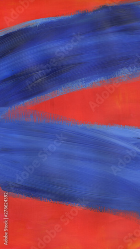 Abstract Blue and Red Painting