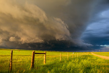 A Dark Shelf Cloud And Storm A...