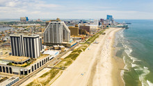 Buildings Boardwalk And Skyline Of Atlantic City New Jersey