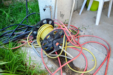 Old Garden Hose And Hose