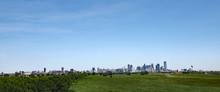 Trinity River Greenbelt Park Cityscape View Of Dallas, Texas