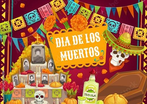 Fotomural Day of Dead Mexican Dia de los muertos altar photo