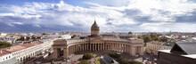 Panoramic View Of Kazansky Cathedral Saint Petersburg, Russia