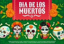 Mexican Day Of Dead Skulls, Di...