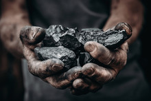Coal In Miner Holds. Concept I...