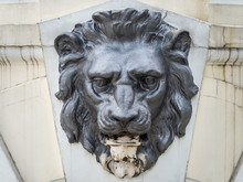 Bas-relief Of A Lion On Wall. ...