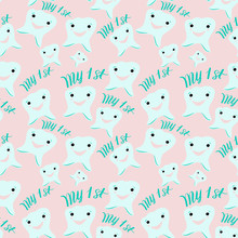 """Seamless Pattern Of """"My First ..."""