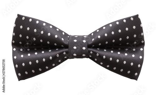 Black Polka Dot Bow Tie Front Fototapeta