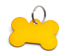 Gold Dog Bone Tag
