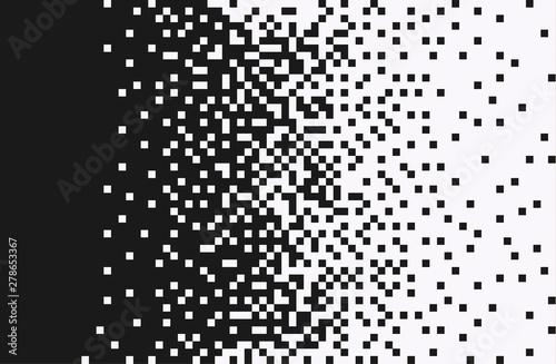 The pixels are scattered, dissolve Slika na platnu