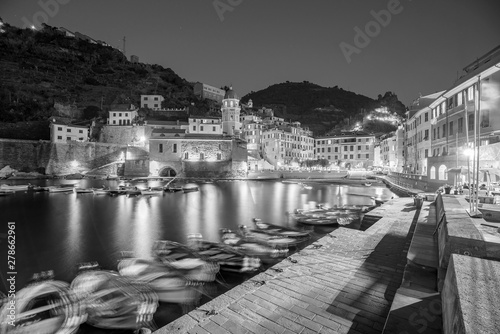 View of Vernazza. One of five famous colorful villages of Cinque Terre National Park