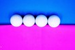 canvas print picture - Golf ball on pink background
