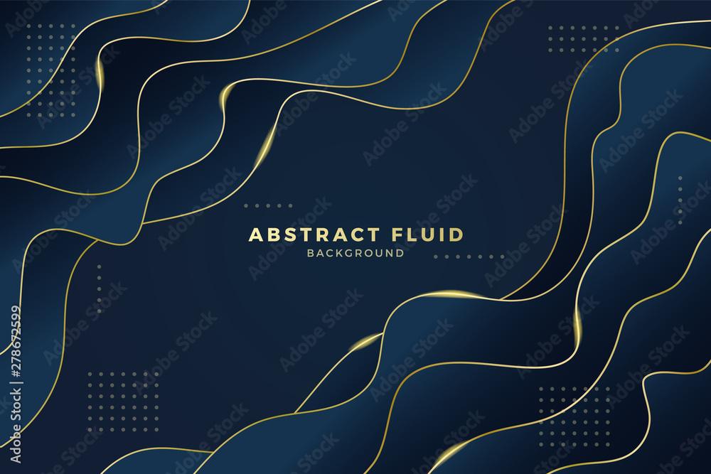 Fototapeta Abstract fluid background luxury style. Vector illustration