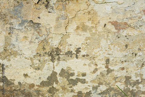 Photo sur Toile Vieux mur texturé sale Texture of a concrete wall with cracks and scratches which can be used as a background