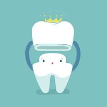 Dental Crown, Tooth Put In Cro...