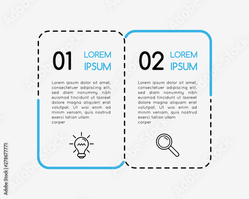 Infographic template with 2 steps. Vector Fototapete