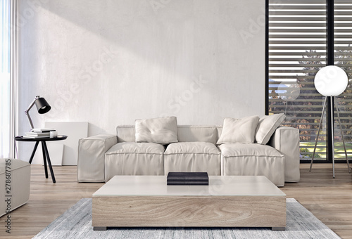 Modern Interior Design Of Living Room With Italian Style Furniture