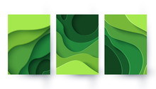 Vector Eco Abstract Green Pape...