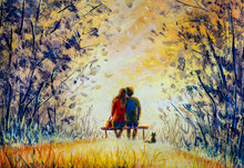 Oil Painting Romance And Love....