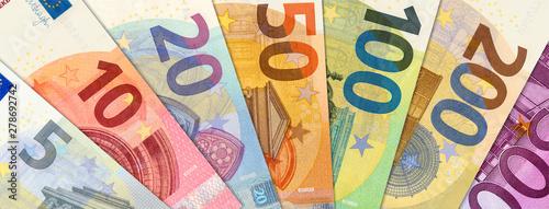 Alle Euroscheine als Geldfächer Canvas Print