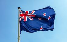 New Zealand Flag Waving Agains...
