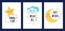 Star Cloud Moon Sleep Card Set...